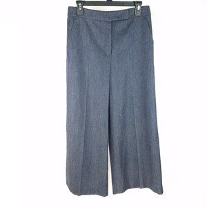 Max Mara Blue High Waist Wide Leg Crop Pants